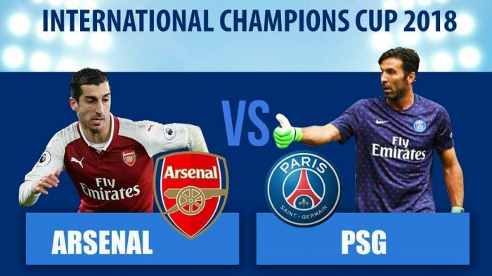 Arsenal vs PSG Turnamen ICC