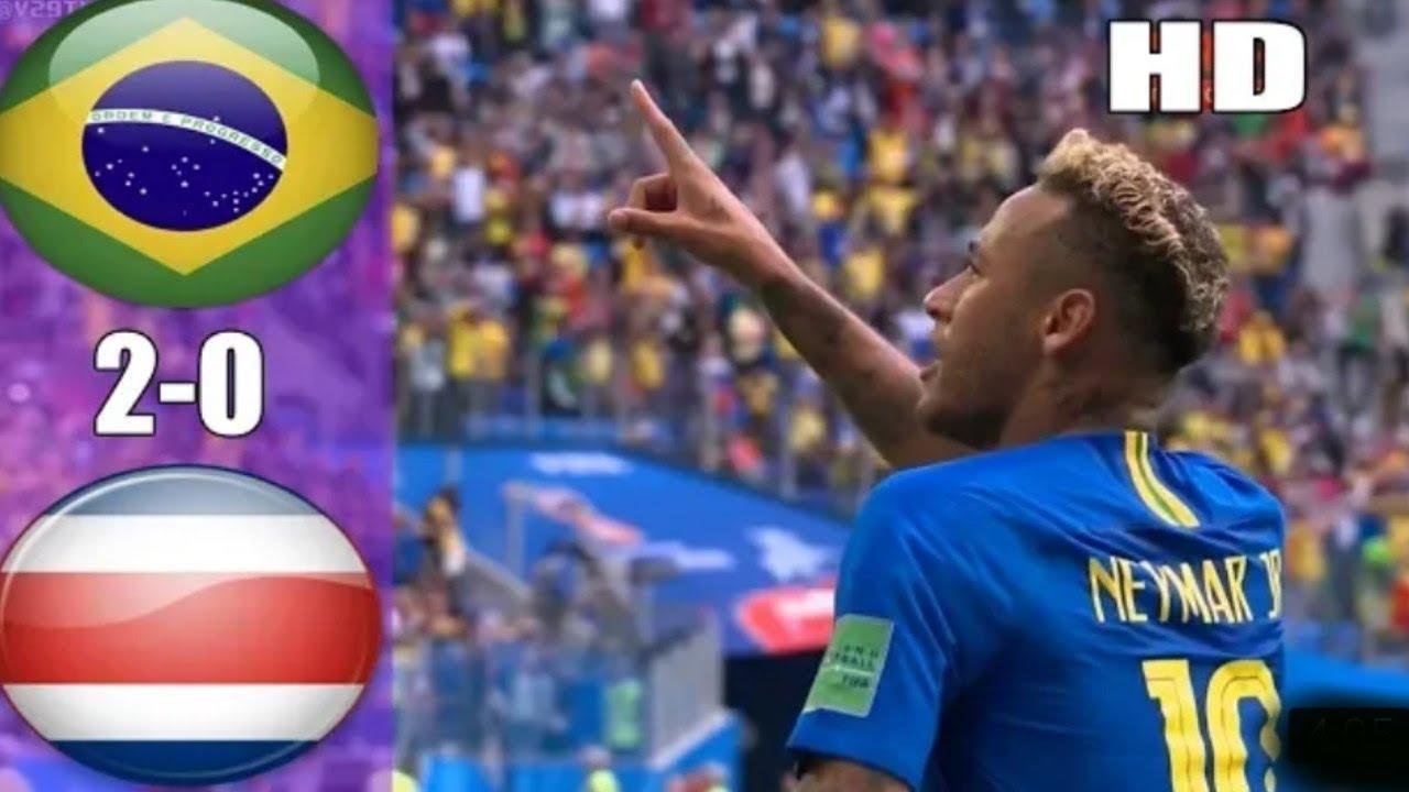Hasil Brazil Vs Kosta Rika Piala Dunia 2018