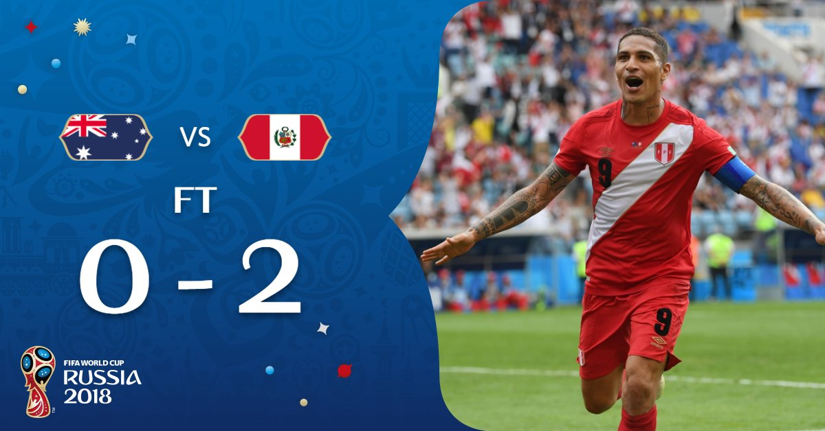 Skor Australia Vs Peru Di Piala Dunia 2018