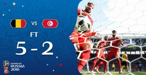skor belgia-vs-tunisia dipiala dunia 2018