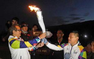 1 Agustus, Api Obor Asian Games 2018 Mampir ke Danau Toba