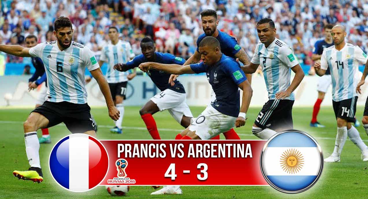 Hasil Prancis Vs Argentina, Skor 4-3