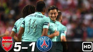 Hasil Turnamen ICC- Arsenal vs PSG- Skor 5-1