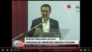 Menpora Izinkan Judi Dalam Sepak Bola Indonesia