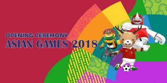 Dana Opening Asian Games 2018 Hanya 52$ Sekitar Rp 759M