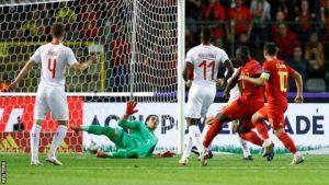 Hasil Belgia vs Swiss- lukaku mencetak gol