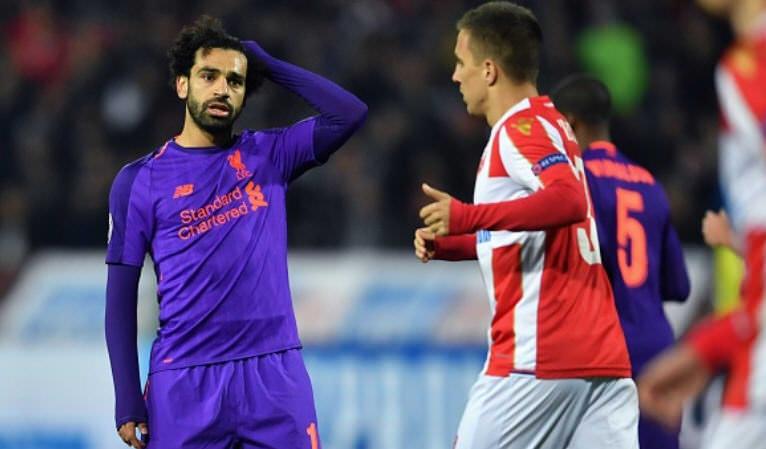 Hasil pertandingan Liverpool vs Crvena Zvezda, Hasil pertandingan liga champion